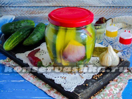 Рецепт маринованных огурцов с карри