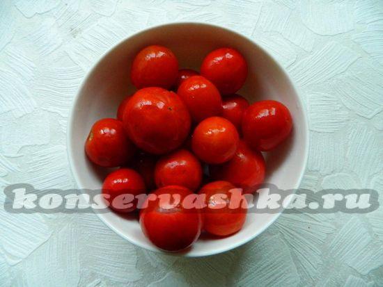 помидоры промыть
