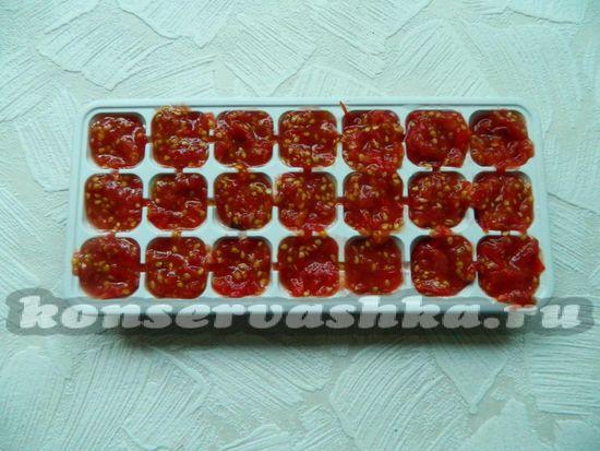 перелейте жмых томата