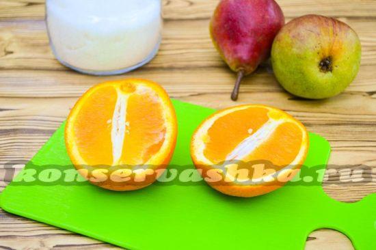 Апельсин обдаем кипятком