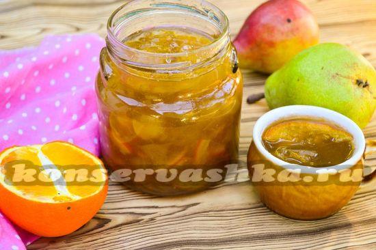 рецепт варенья из груши с апельсином