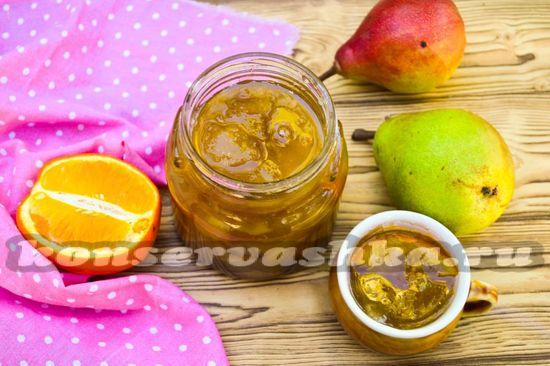 как приготовить варенье из груши с апельсином