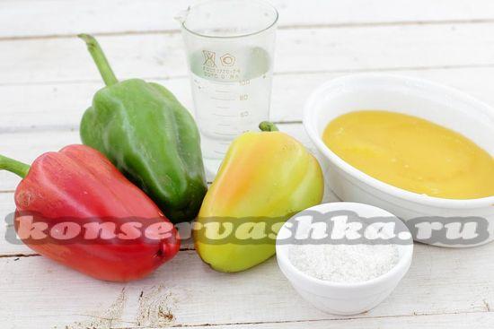 Ингредиенты для приготовления медовой соломки на зиму