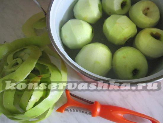 яблоки очистить