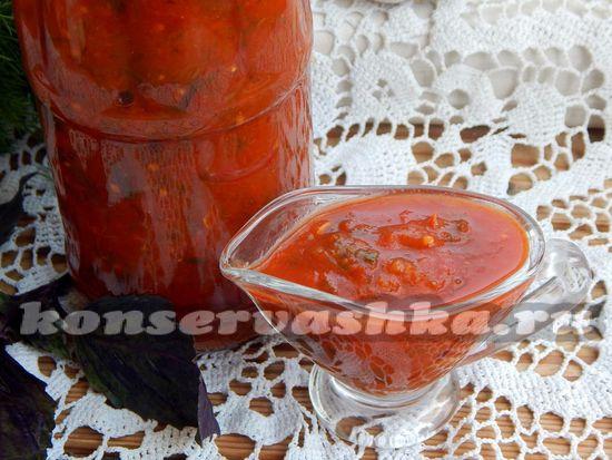 Томатный соус с солёными огурцами в мультиварке Philips HD3039.