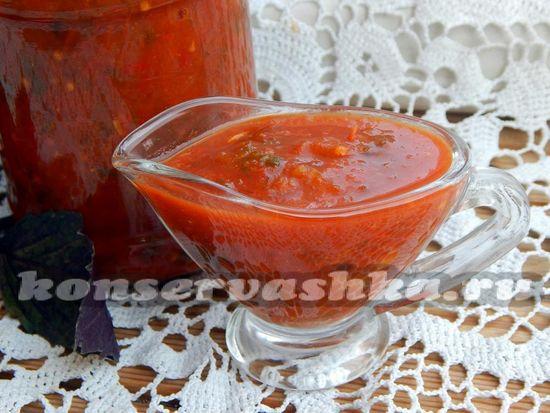 рецепт томатного соуса с солёными огурцами в мультиварке Philips HD3039.