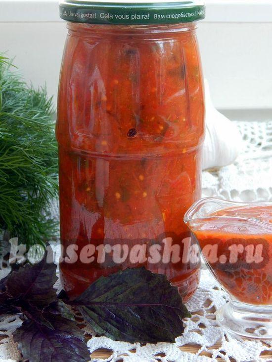 как приготовить томатный соус с солёными огурцами в мультиварке Philips HD3039.