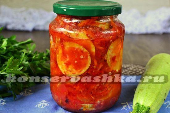 Тещин язык из кабачков с томатной пастой на зиму рецепт с фото