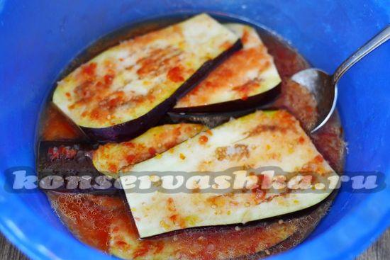 добавить баклажаны в соус