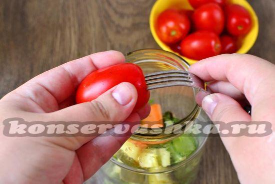 помидоры наколоть