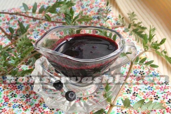 Рецепт сиропа из черники