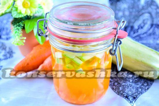 рецепт компота из морковки и кабачков на зиму