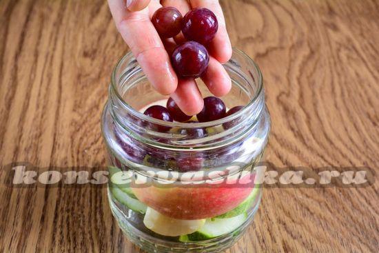 добавить виноградинки
