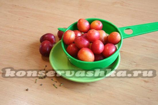 ягоды алычи промыть