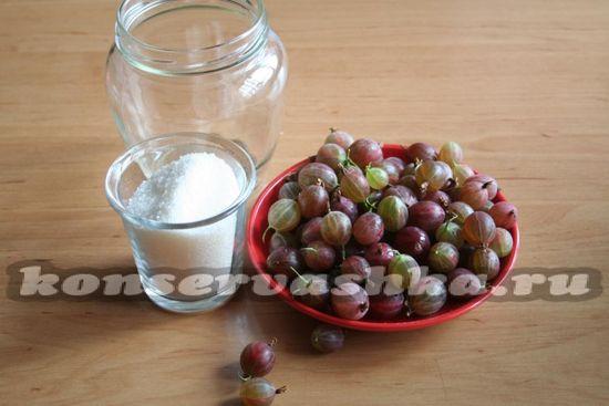 Ингредиенты для приготовления сока из крыжовника