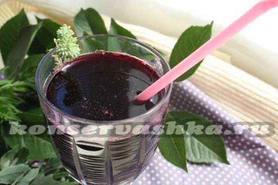 рецепт сока черничного