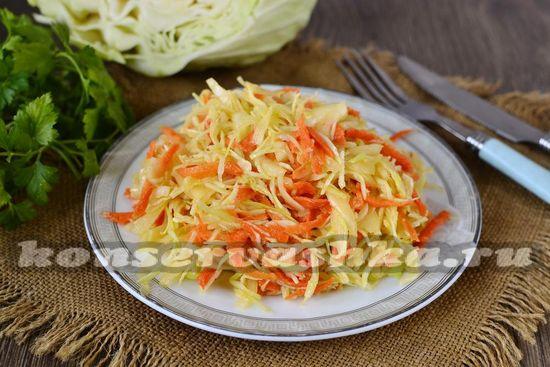 Рецепт маринованной капусты с горчицей