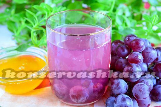 Рецепт виноградного компота с пряностями