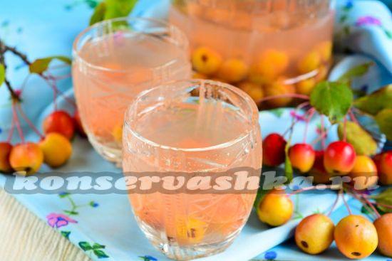 Рецепт компота из райских яблочек