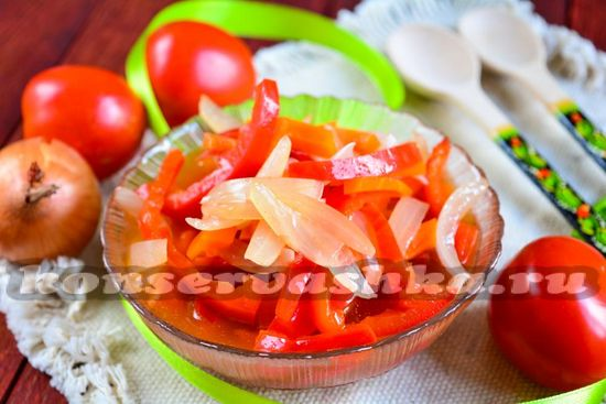 Рецепт салата из моркови перца и лука