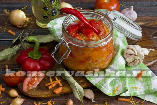 Рецепт лечо из болгарского перца с морковью и луком на зиму