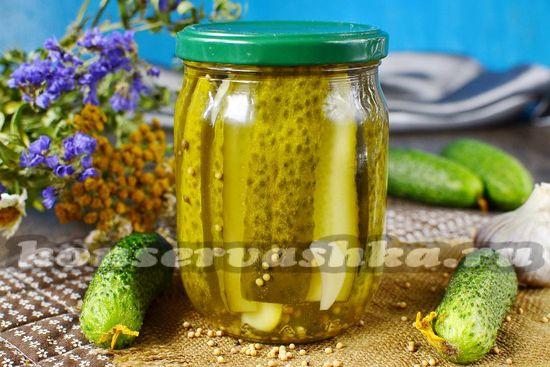 рецепт огурцов с семенами горчицы на зиму под железные крышки