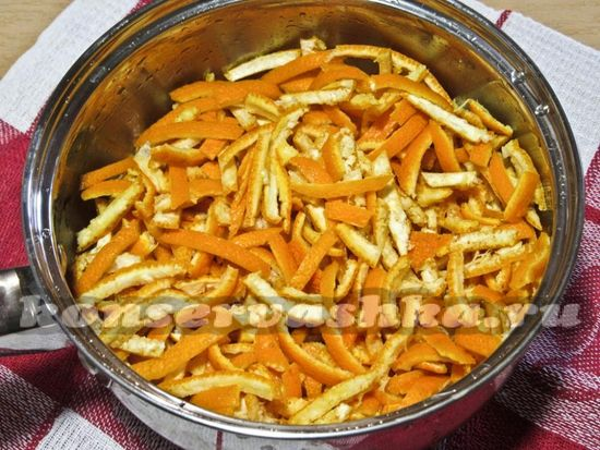 нарезать корочки мандаринов