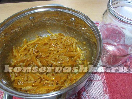 готовое варенье из мандариновых корок