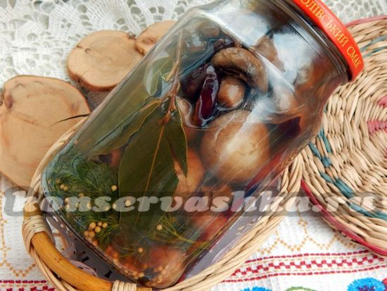 Маринованные шампиньоны в домашних условиях, рецепт с черносливом