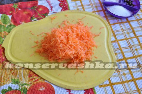 измельчаем морковь