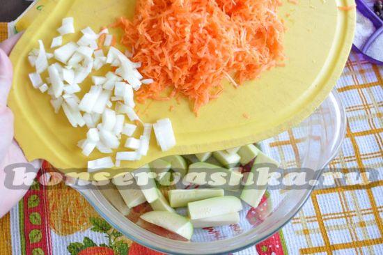 добавляем остальные овощи