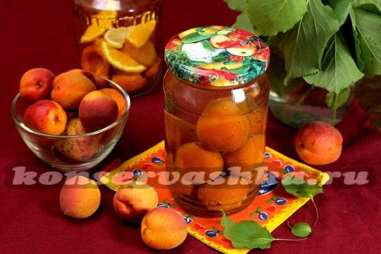компот из абрикосов с косточкой на зиму
