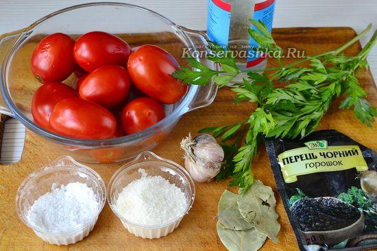 Ингредиенты для приготовления пимдор на зиму без уксуса