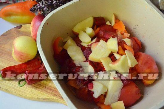 Аджика с яблоками и помидорами на зиму: лучшие рецепты приготовления