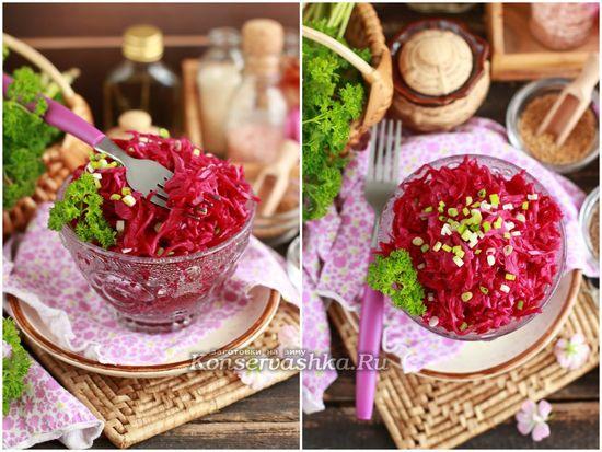 рецепт квашеной краснокочанной капусты с тмином