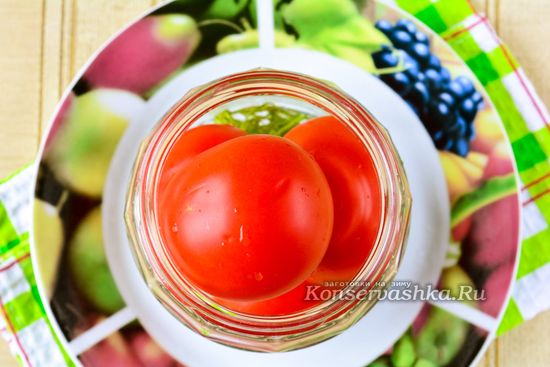 Сложить помидоры
