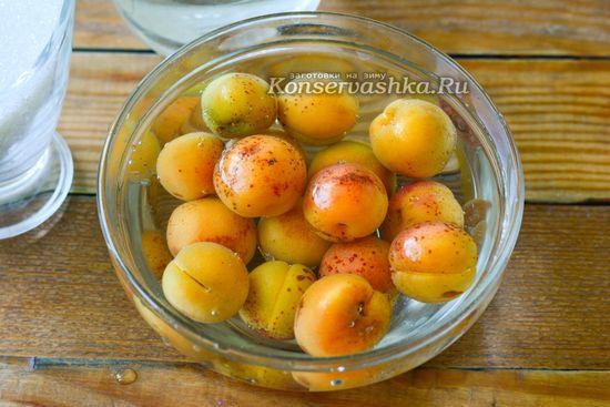 промываем абрикосы
