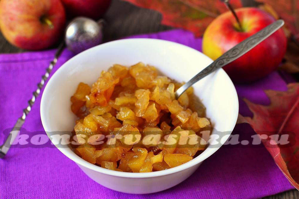 рецепт яблоки джем микроволновка