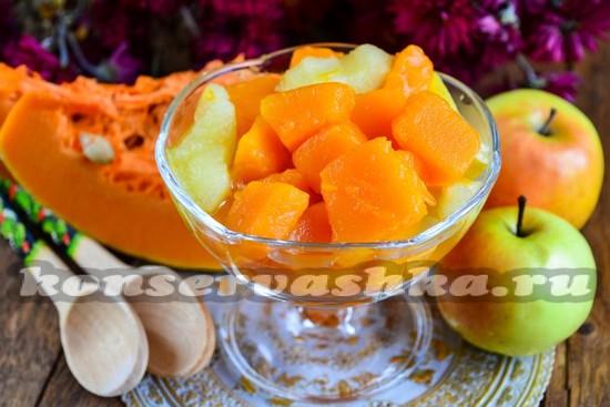 Рецепт варенья из тыквы, яблоко и лимона