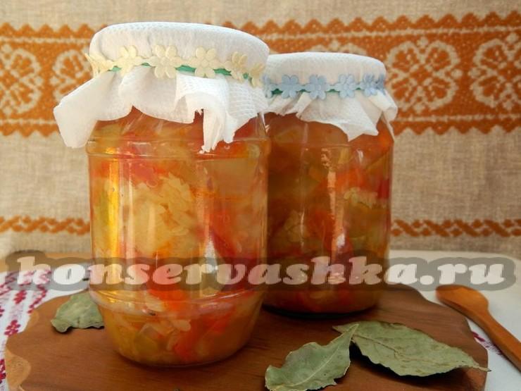 Консервированное рагу из овощей на зиму
