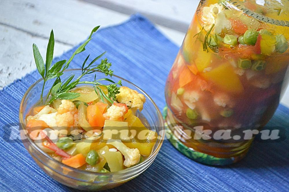 Овощное ассорти и рецептом
