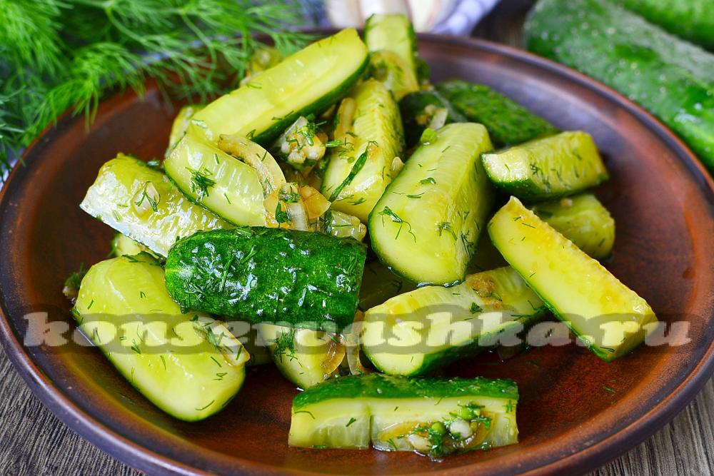 Салат с огурцами по-корейски с пошагово