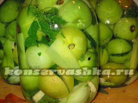 Как сделать маринованные зеленые помидоры