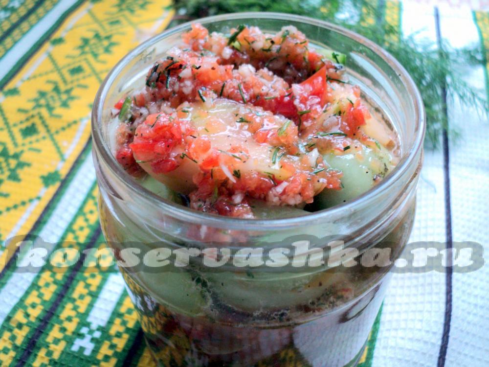 зеленые помидоры самый вкусный рецепт быстрого приготовления
