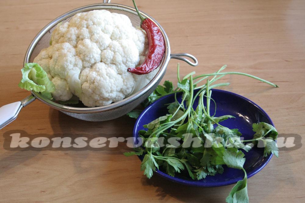 как разделать капусту цветную капусту