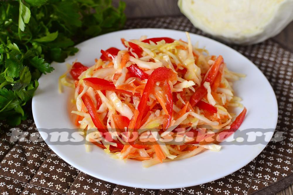 рецепт салат из капусты провансаль