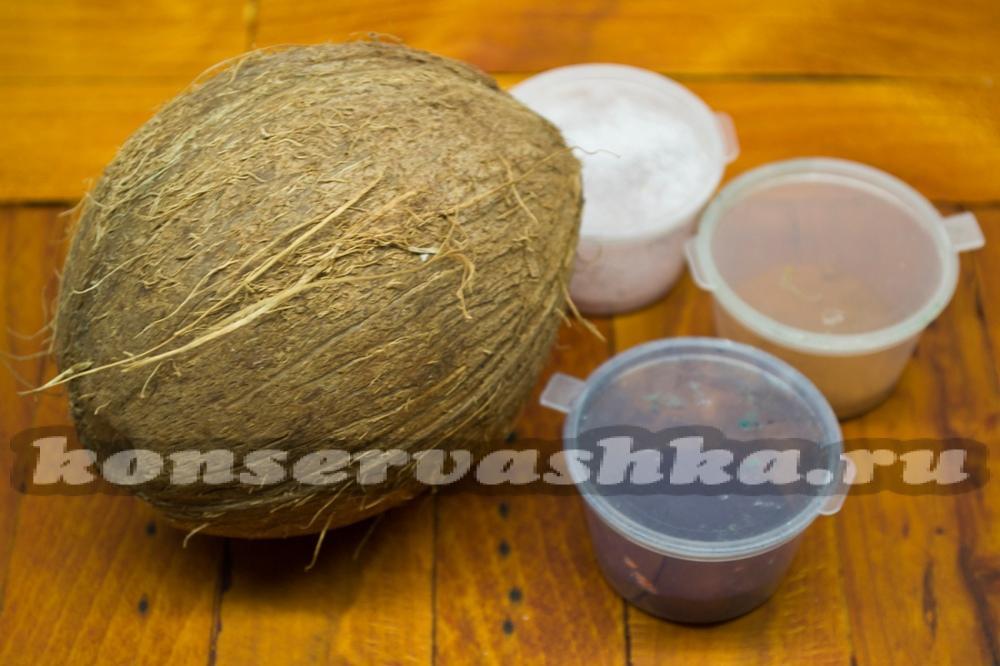 Как сделать стружку кокоса