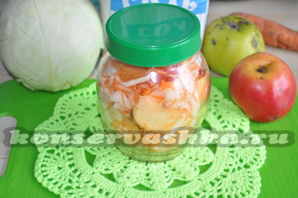 Квашеная капуста с яблоками рецепты 28