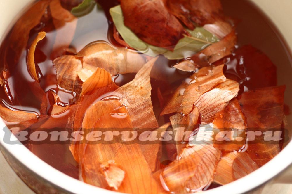 Как сварить грудинку в луковой шелухе рецепты с пошагово