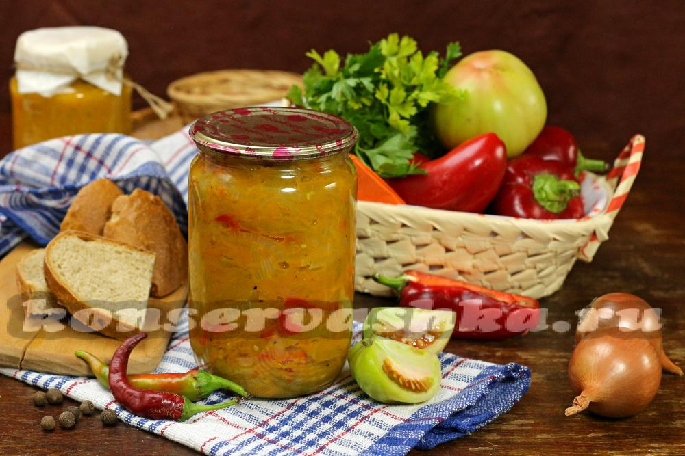рецепты салатов из зеленых помидоров с капустой